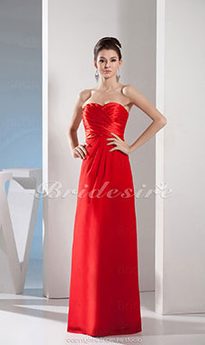 Sheath/Column Sweetheart Floor-length Sleeveless Satin Dress