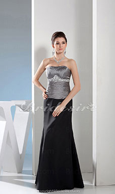 Trumpet/Mermaid Sweetheart Floor-length Sleeveless Satin Dress
