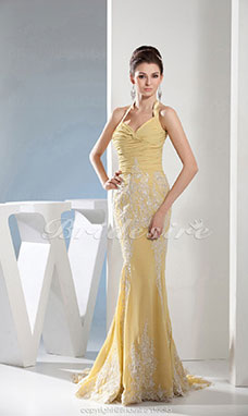 Trumpet/Mermaid Halter Floor-length Sleeveless Chiffon Dress