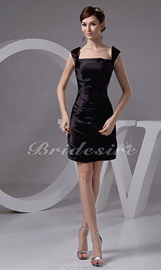 Sheath/Column Straps Short/Mini Sleeveless Stretch Satin Dress