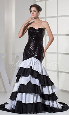 Trumpet/Mermaid Sweetheart Sweep Train Sleeveless Taffeta Dress