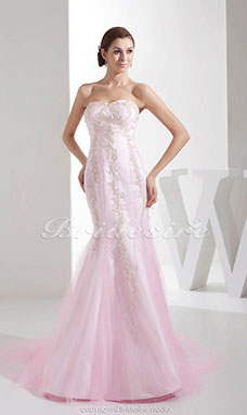Trumpet/Mermaid Sweetheart Sweep Train Sleeveless Tulle Dress