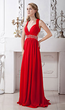 A-line Strapless Short/Mini Chiffon Evening Dress