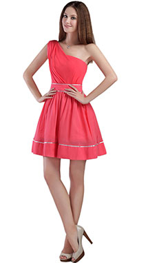 A-line V-neck Short/Mini Chiffon Prom Dress