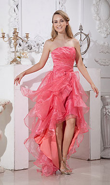A-line Sweetheart Asymmetrical Taffeta Prom Dress
