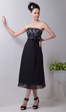 A-line Sweetheart Tea-length Tulle Cocktail Dress