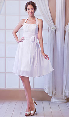 Sheath/Column One Shoulder Short/Mini Chiffon Homecoming Dress