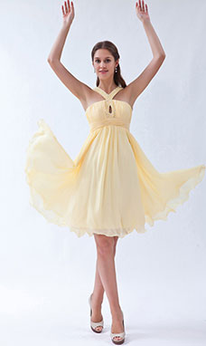 Sheath/Column Strapless Knee-length Satin Holiday Dress