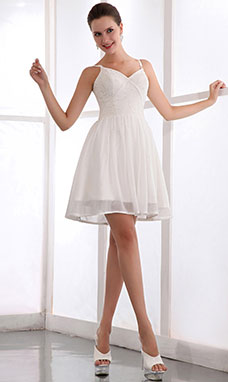 Princess Strapless Short/Mini Chiffon Tulle Graduation Dress