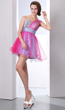 Princess Strapless Short/Mini Taffeta Homecoming Dress