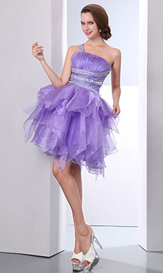 Princess Sweetheart Short/Mini Satin Tulle Graduation Dress