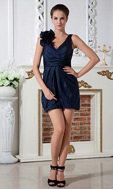 A-line Halter Short/Mini Chiffon Holiday Dress