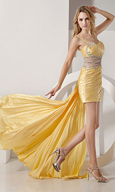 Princess Strapless Short/Mini Organza Satin Graduation Dress