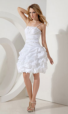 A-line One Shoulder Knee-length Tulle Cocktail Dress