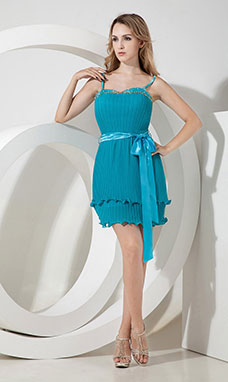 Sheath/Column V-neck Short/Mini Satin Holiday Dress