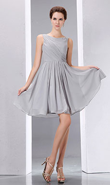 Sheath/Column Strapless Short/Mini Organza Homecoming Dress