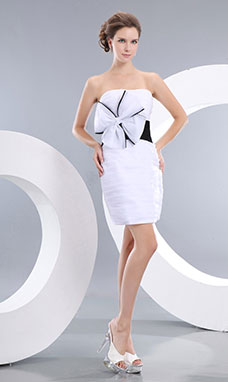 Sheath/Column One Shoulder Knee-length Chiffon Graduation Dress