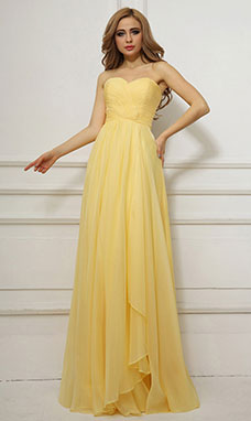 Ball Gown Ball Gown Sweetheart Floor-length Organza Evening Dress
