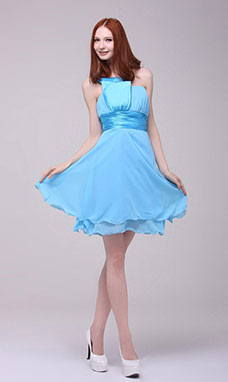 A-line Sweetheart Floor-length Chiffon Cocktail Dress