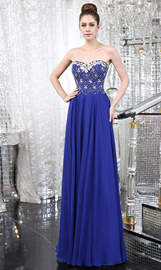 Trumpet/Mermaid Sheath/Column Halter Sweep/Brush Train Chiffon Evening Dress