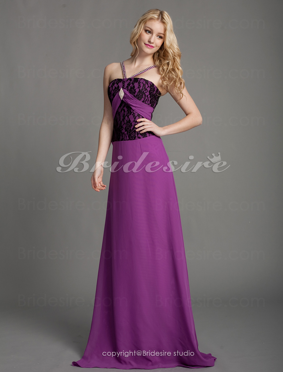 Sheath/Column Knitwear Floor-length Straps Evening Dress