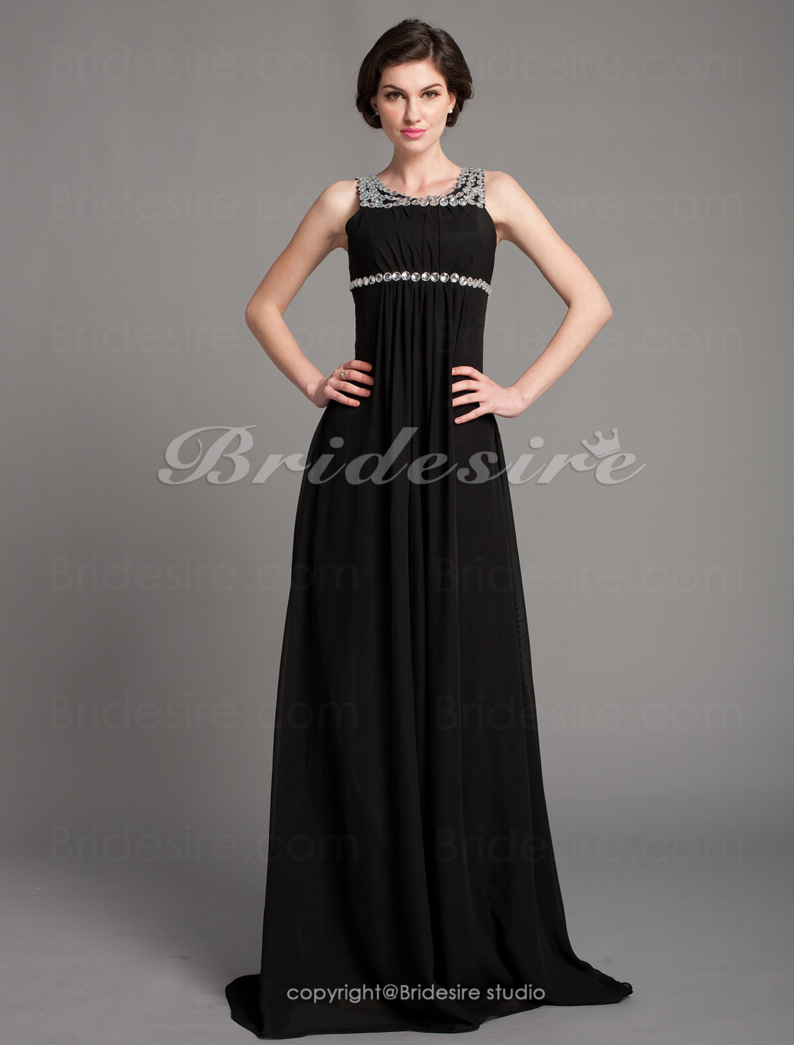 Empire Chiffon Floor-length Scoop Mother of the Bride Dress