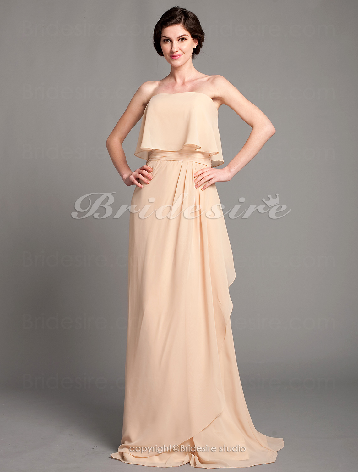 Sheath/ Column Chiffon Floor-length Sweetheart Mother of the Bride Dress