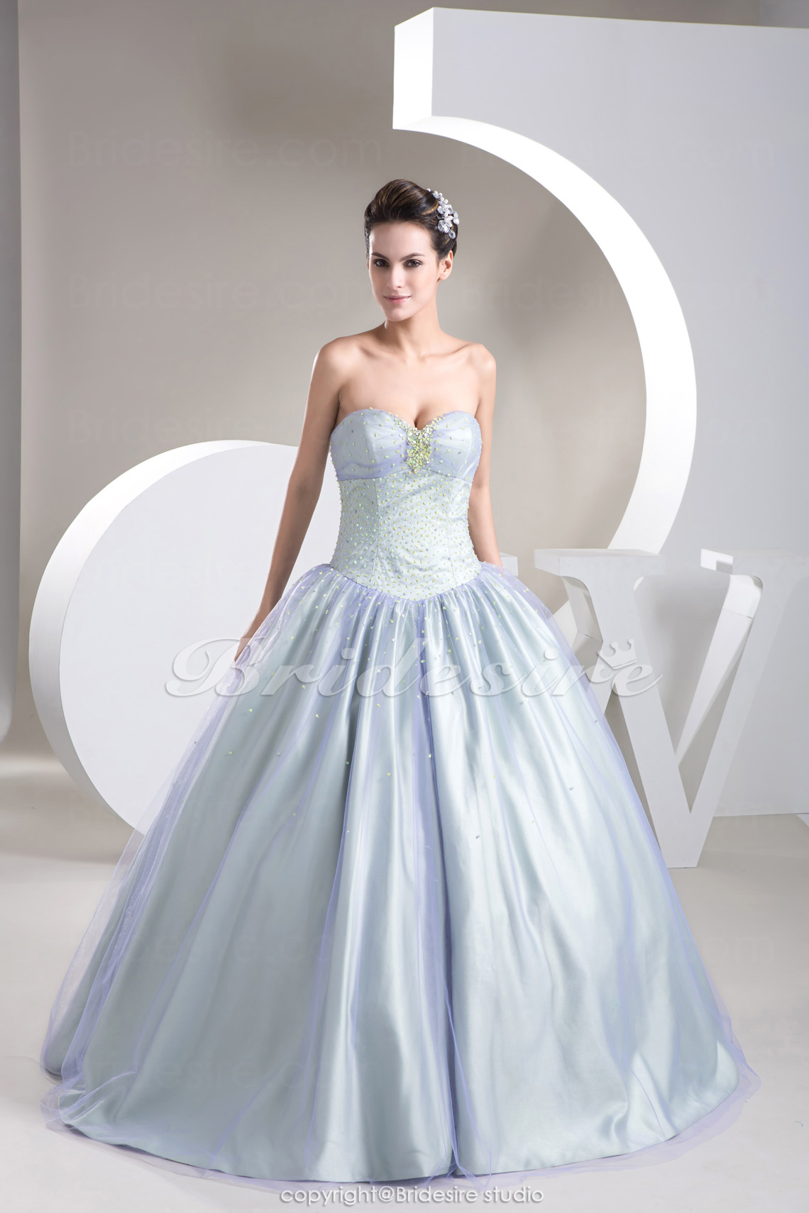 Ball Gown Sweetheart Floor-length Sleeveless Tulle Dress