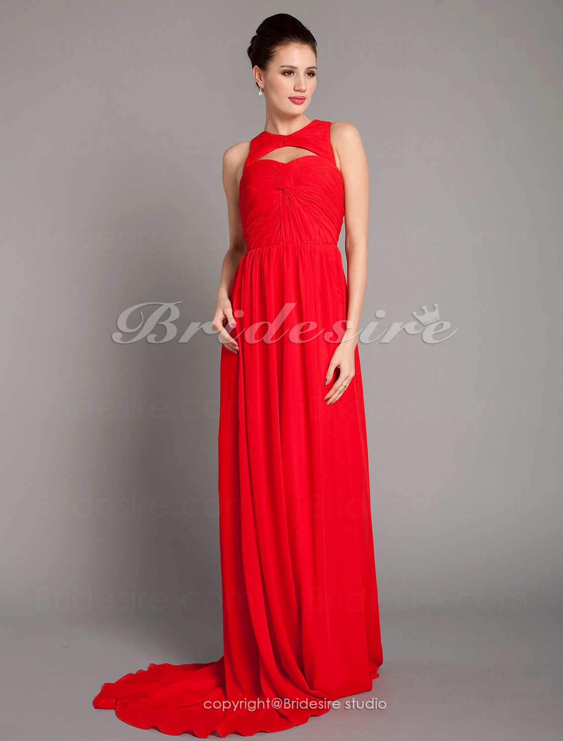 Sheath/ Column Chiffon Floor-length V-neck Evening Dress inspired by Odette Yustman at Oscar