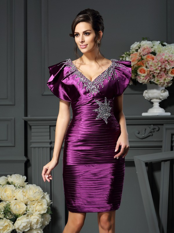 Sheath/Column Bateau Sleeveless Satin Mother of the Bride Dress