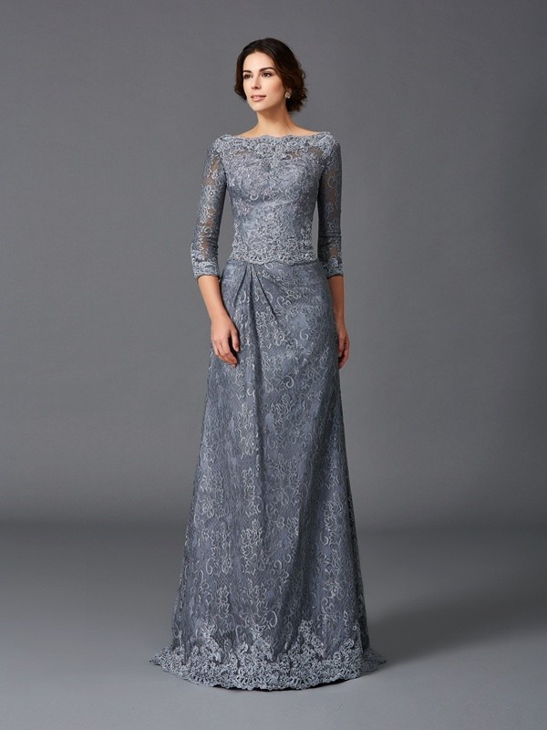 A-line Bateau Sleeveless Lace Mother of the Bride Dress