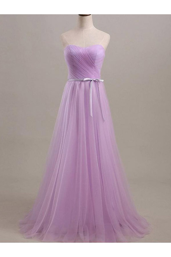 A-line Sweetheart Sleeveless Tulle Dress