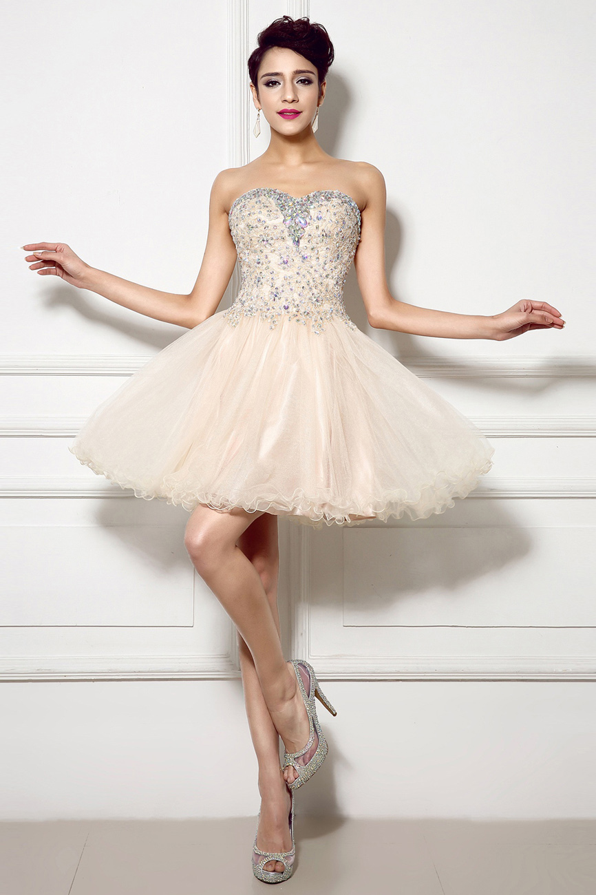 Princess Sweetheart Short/Mini Tulle Prom Dress