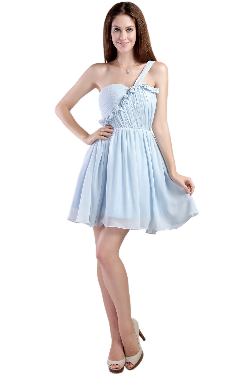 Princess Strapless Short/Mini Taffeta Cocktail Dress