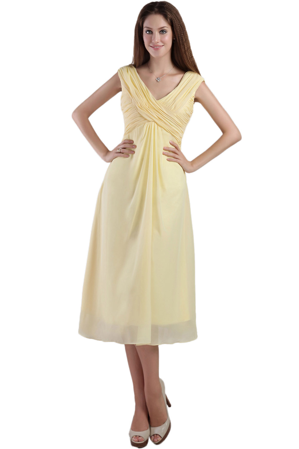 Sheath/Column One Shoulder Knee-length Satin Prom Dress