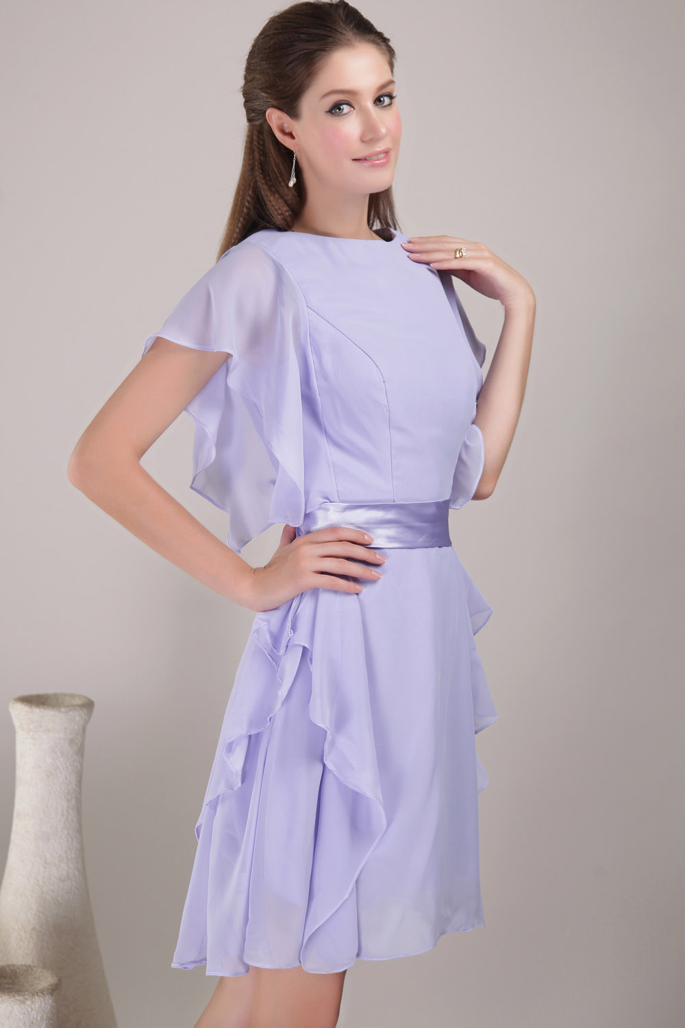 A-line Sweetheart Floor-length Chiffon Homecoming Dress