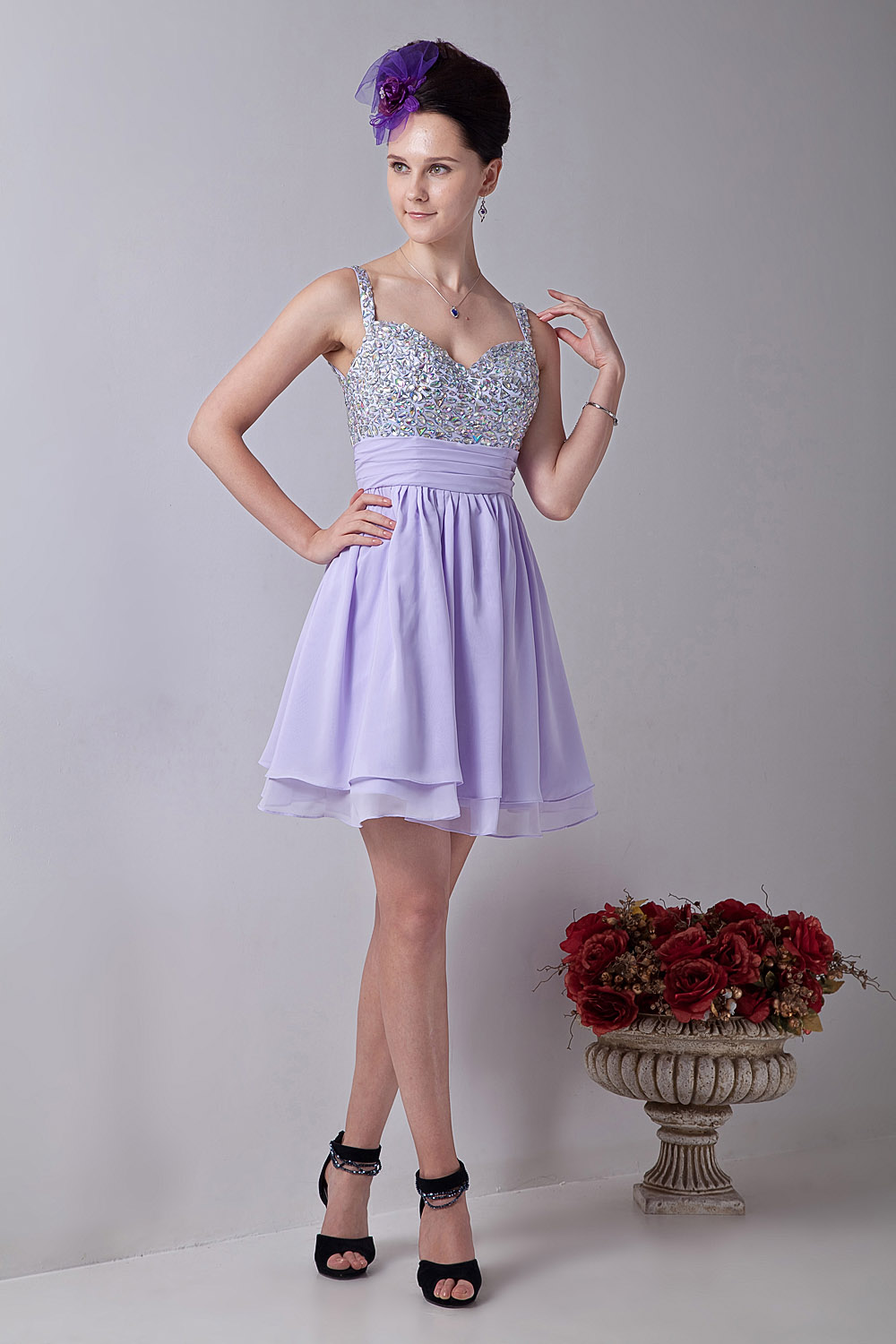 Princess Strapless Short/Mini Tulle Cocktail Dress