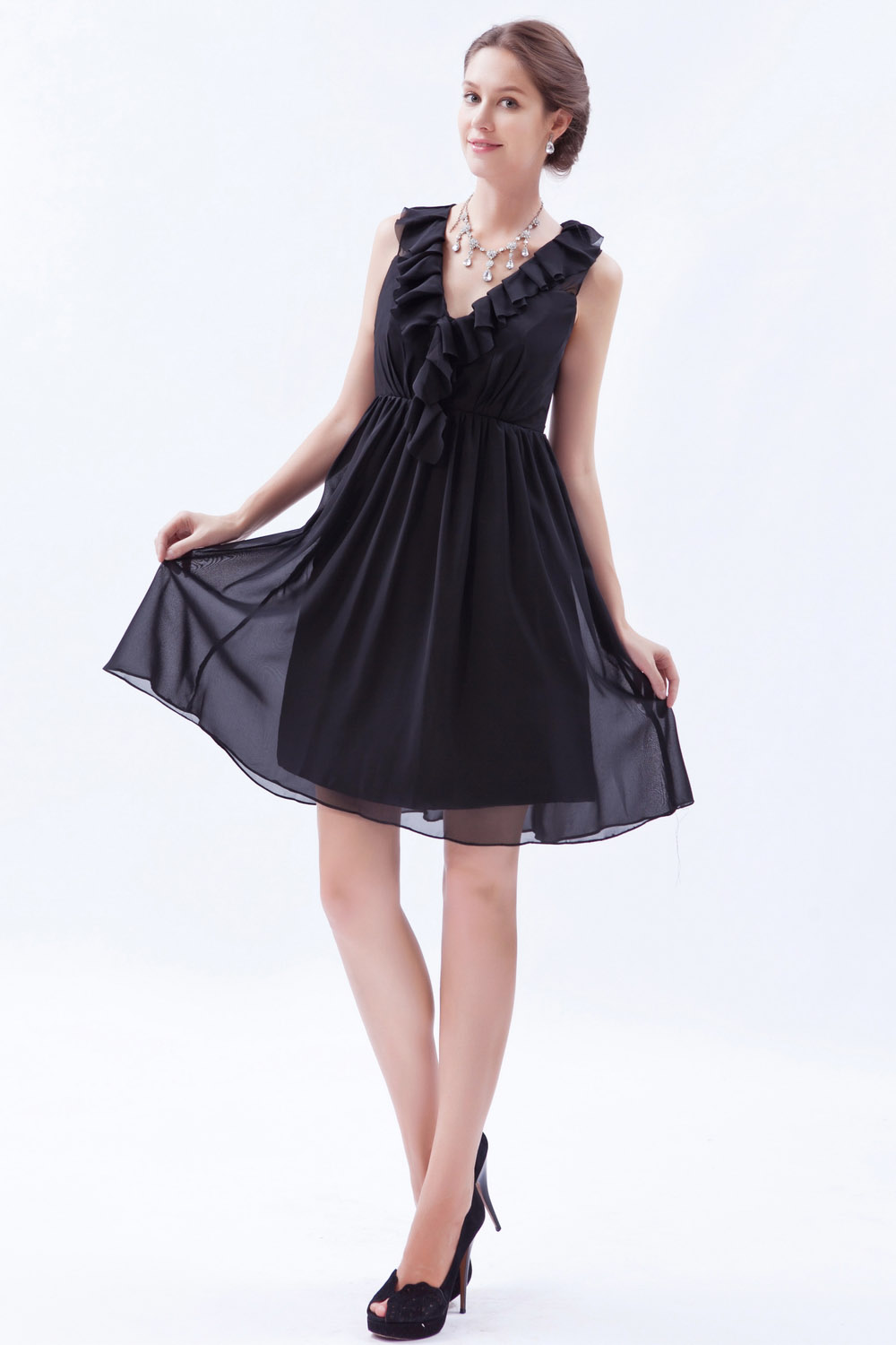 A-line Strapless Short/Mini Taffeta Graduation Dress