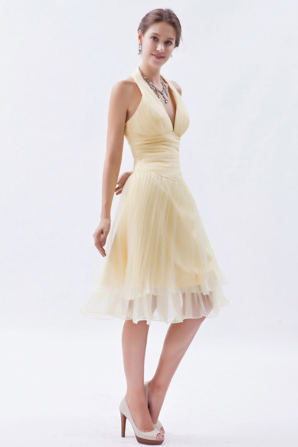 A-line Bateau Floor-length Satin Homecoming Dress