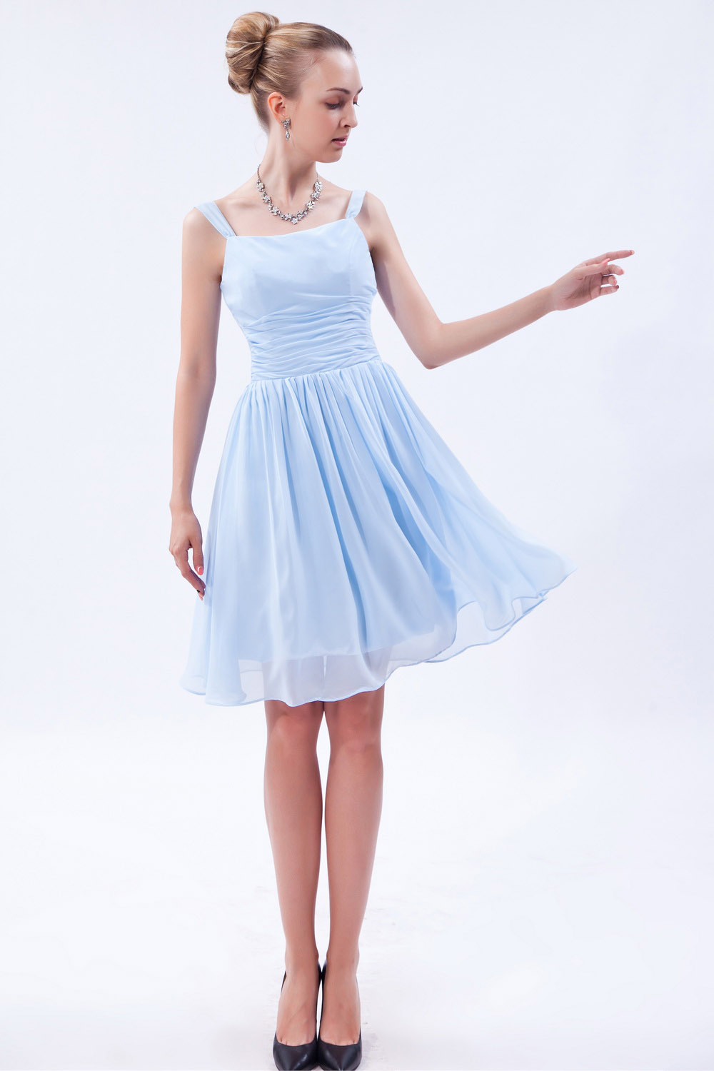 Princess One Shoulder Short/Mini Tulle Taffeta Cocktail Dress