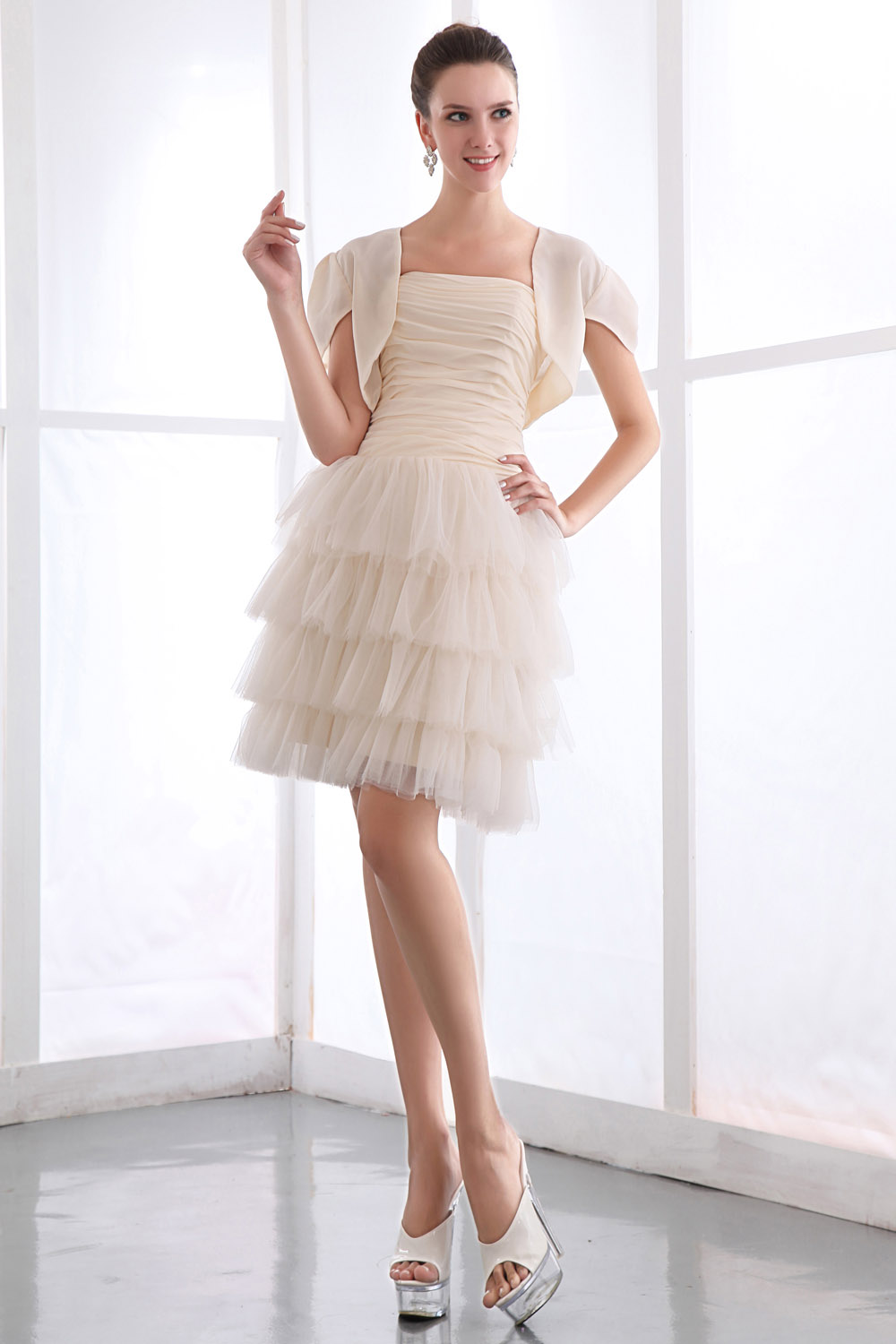 Princess Sweetheart Asymmetrical Tulle Graduation Dress