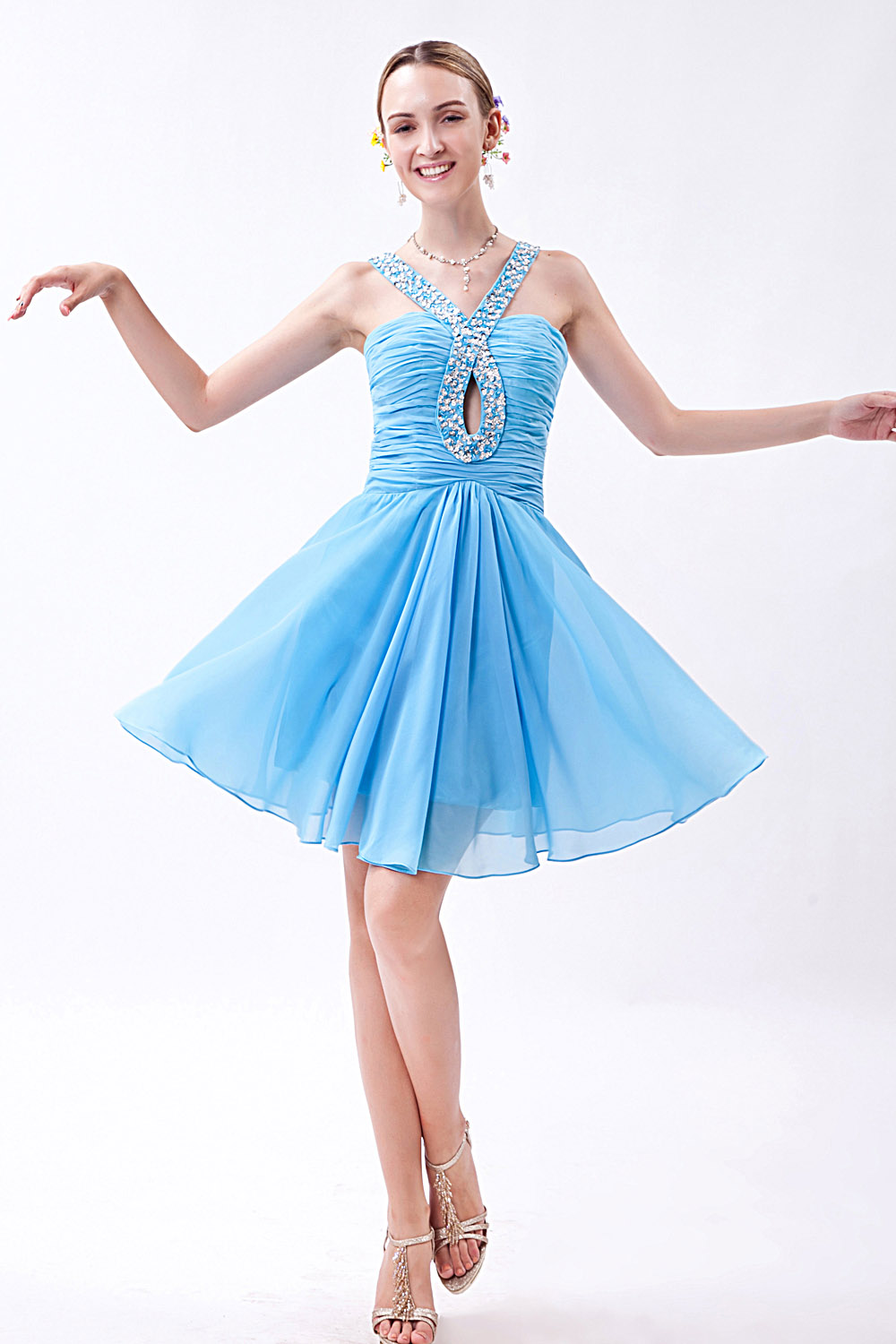 Princess Sweetheart Short/Mini Tulle Cocktail Dress