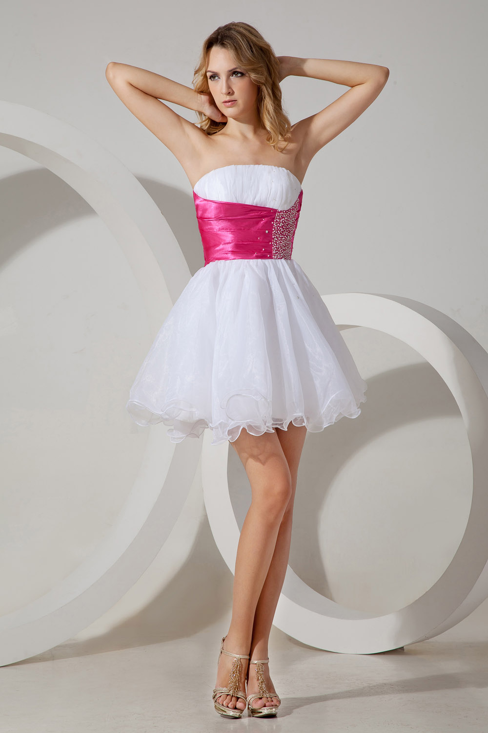 A-line Square Knee-length Taffeta Homecoming Dress