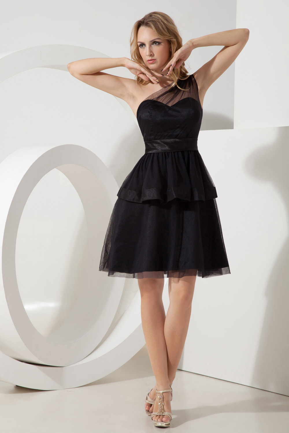 A-line Sweetheart Short/Mini Satin Holiday Dress