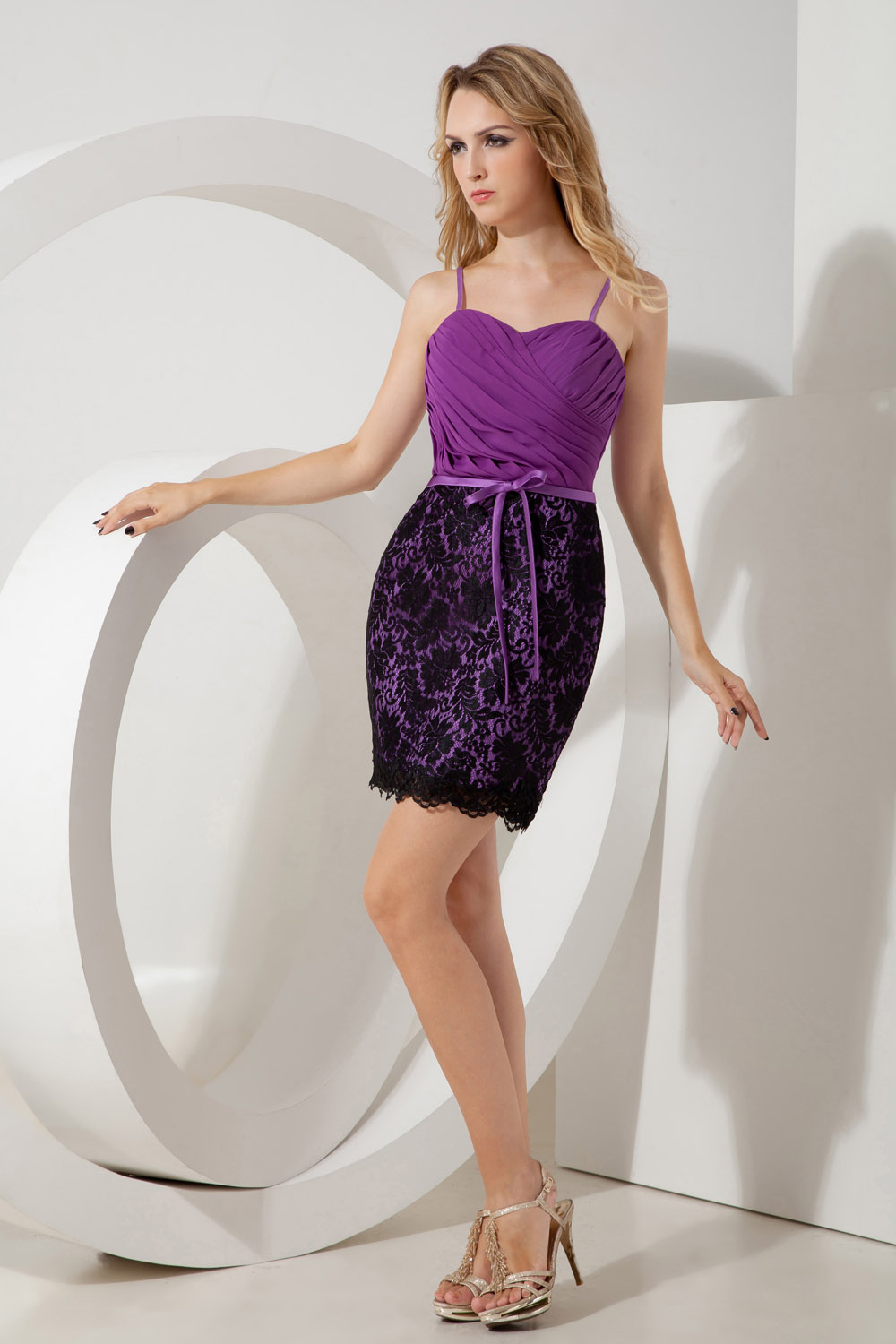 Sheath/Column Sweetheart Asymmetrical Sequins Taffeta Cocktail Dress