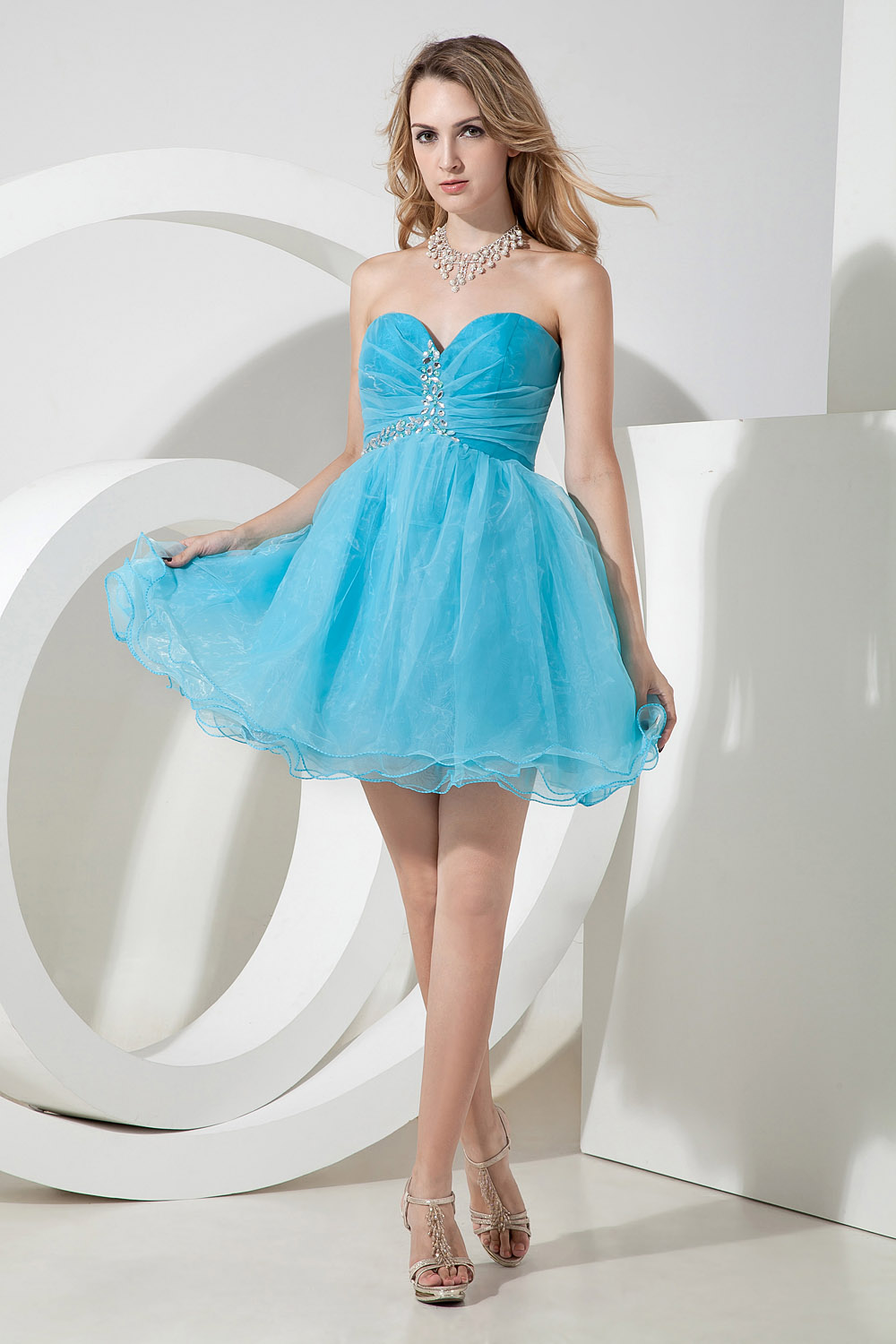 Princess Sweetheart Short/Mini Organza Holiday Dress