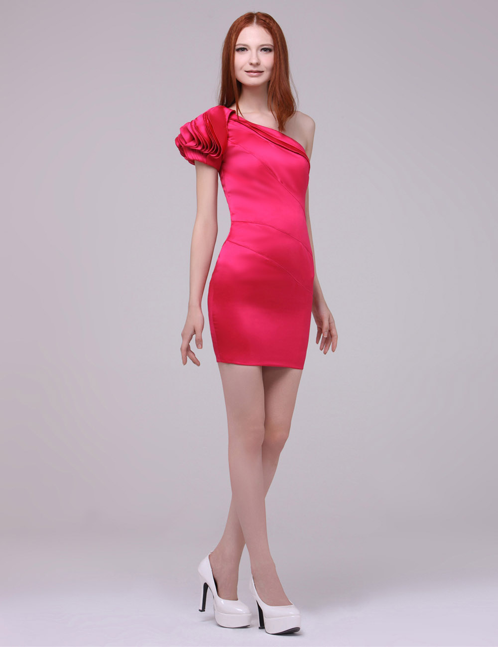 Sheath/Column V-neck Short/Mini Chiffon Holiday Dress