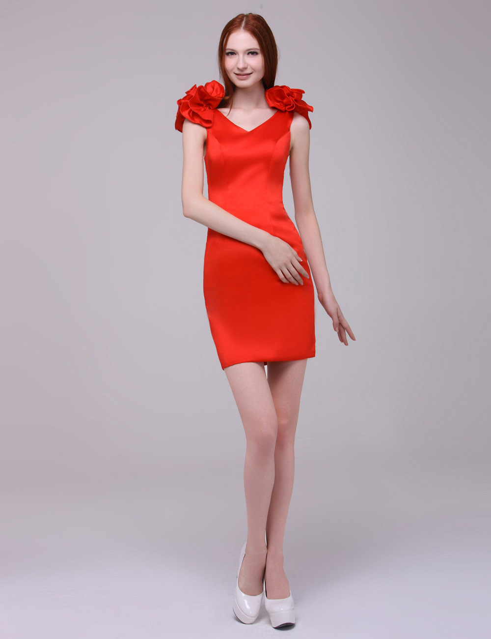 Sheath/Column Halter Sweep/Brush Train Charmeuse Holiday Dress