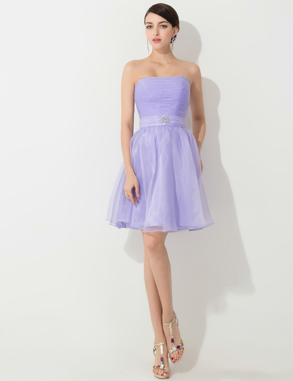 Sheath/Column Sweetheart Floor-length Chiffon Graduation Dress