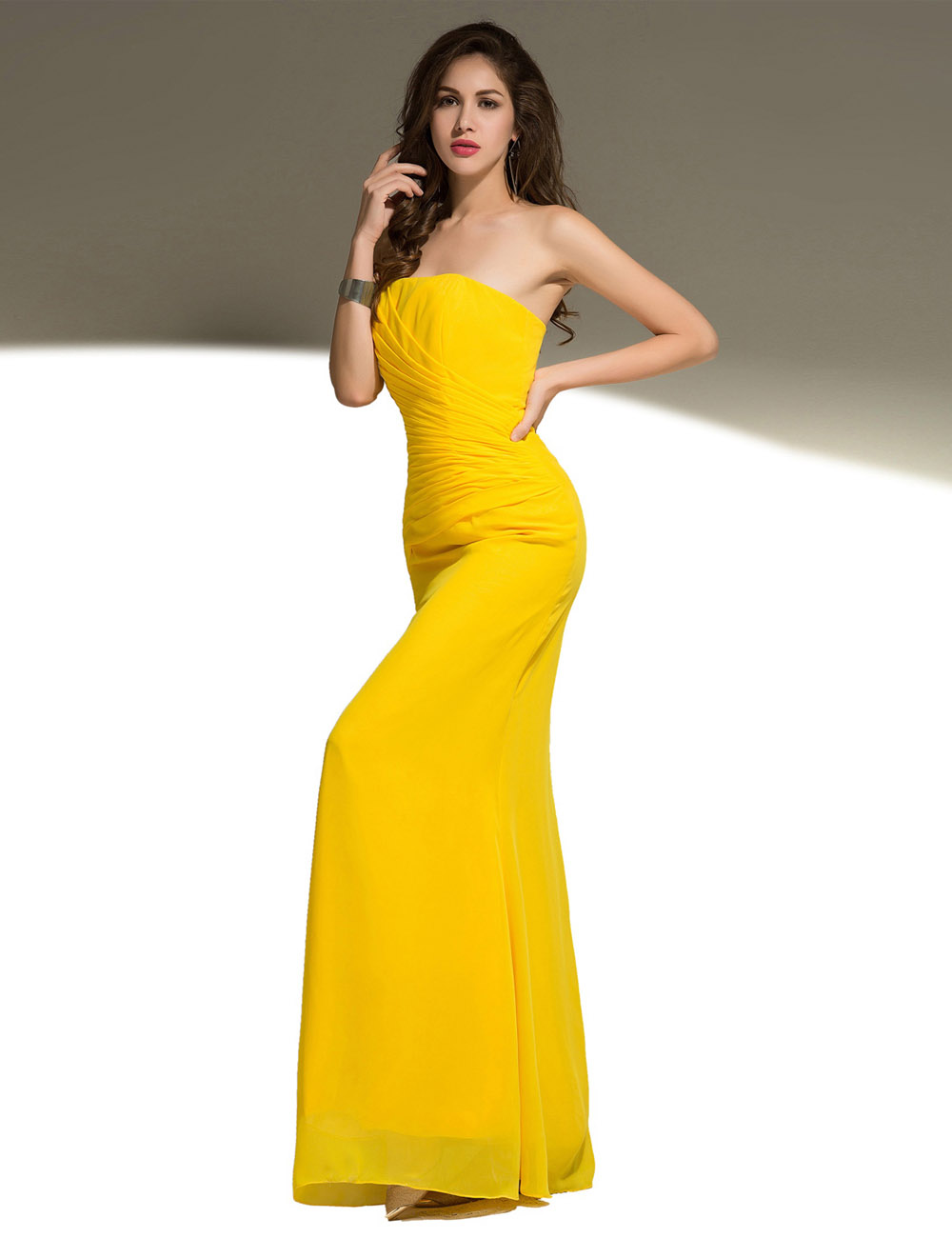Sheath/Column Scoop Floor-length Charmeuse Evening Dress